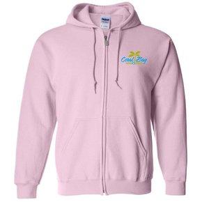 Gildan Heavy Blend Zip Sweatshirt (Light Pink)