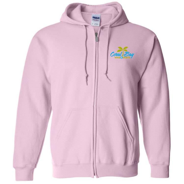 Gildan Gildan Heavy Blend Zip Sweatshirt (Light Pink)