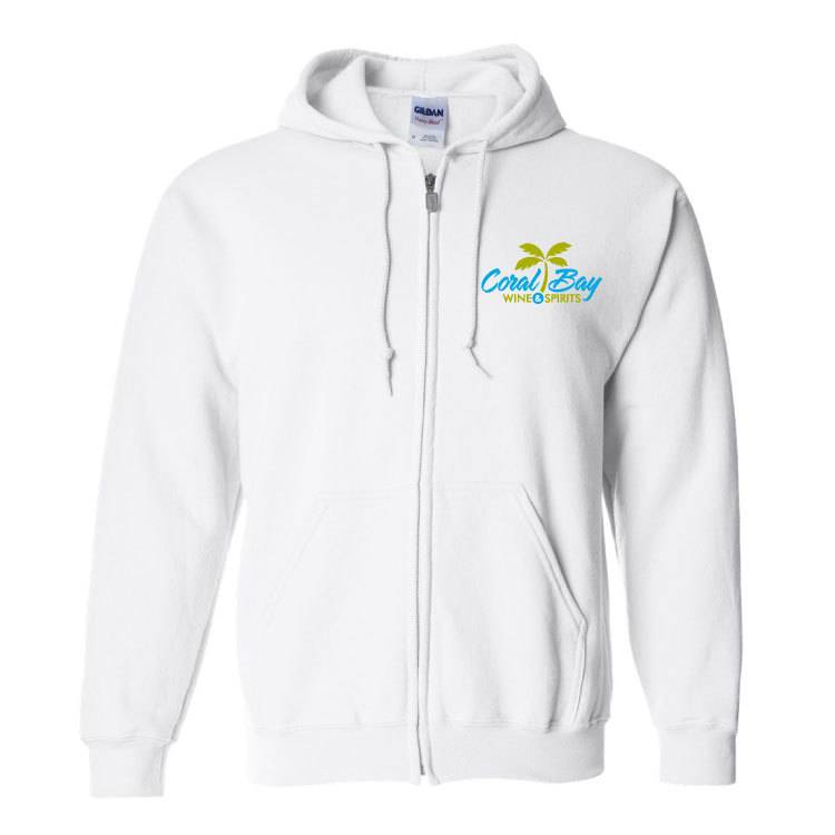 Gildan Gildan Heavy Blend Zip Sweatshirt ( White)