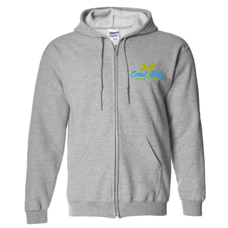 Gildan Gildan Heavy Blend Zip Sweatshirt (Sport Grey)