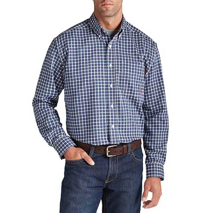 Ariat Ariat FR Plaid Work Shirt ( Bold Blue)