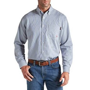 Ariat Ariat FR Stripe Work Shirt (Blue)
