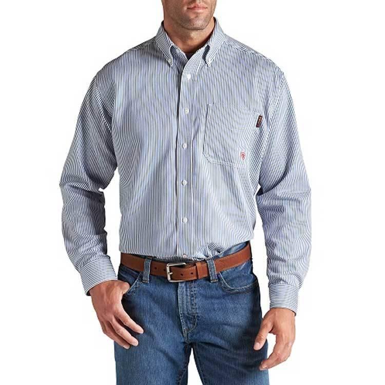 Ariat Ariat FR Stripe Work Shirt (Blue)