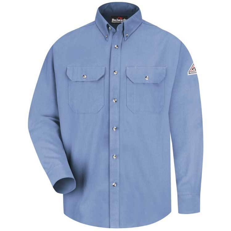 Bulwark Bulwark 7OZ Dress Uniform Shirt HRC2 ( Light Blue)