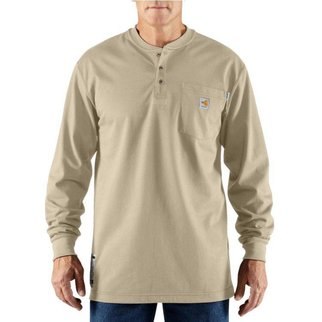 Carhartt Carhartt Force Cotton FR LS Henley (Sand)