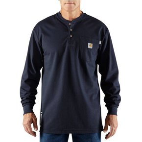 Carhartt Carhartt Force Cotton FR LS Henley (Navy)