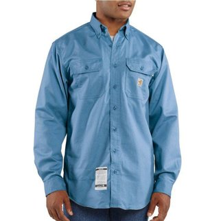 Carhartt Carhartt Flame Resistant Twill Shirt (Medium Blue)