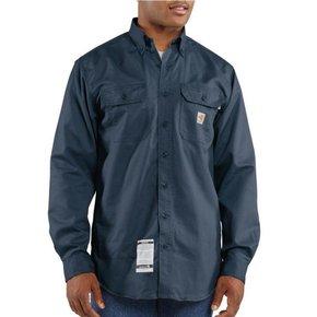 Carhartt Carhartt Flame Resistant Twill Shirt  (Navy)