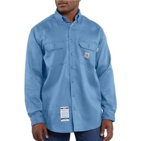 Carhartt Carhartt Work Dry Light Weight Twill Shirt 6oz ( Medium Blue)