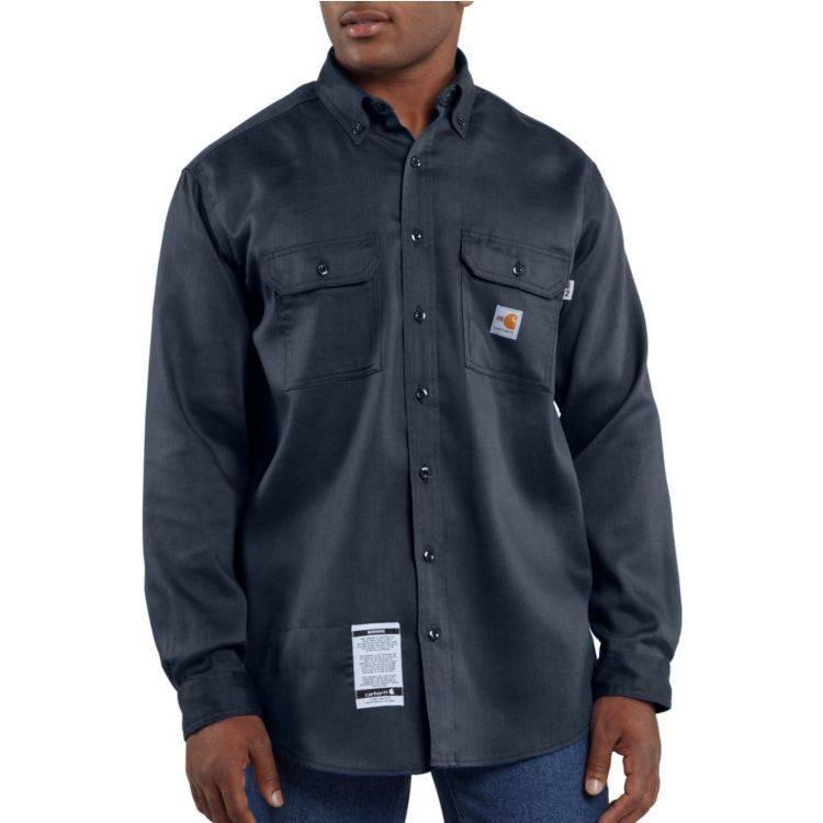 Carhartt Carhartt Work Dry Lightweight Twill Shirt 6oz NAVY