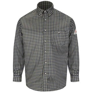 Bulwark Bulwark Plaid Xcel Dress Shirt ( Hunter Navy)
