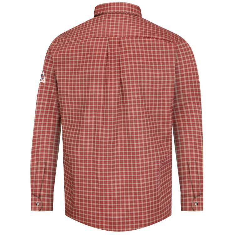 Bulwark Bulwark Plaid Xcel Dress Shirt (Red Khaki)