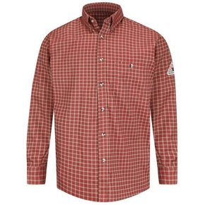 Bulwark Bulwark Plaid Xcel Dress Shirt (Red Khaki)