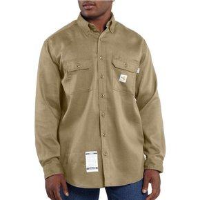 Carhartt Carhartt Work Dry Lightweight Twill Shirt 6oz (Khaki)
