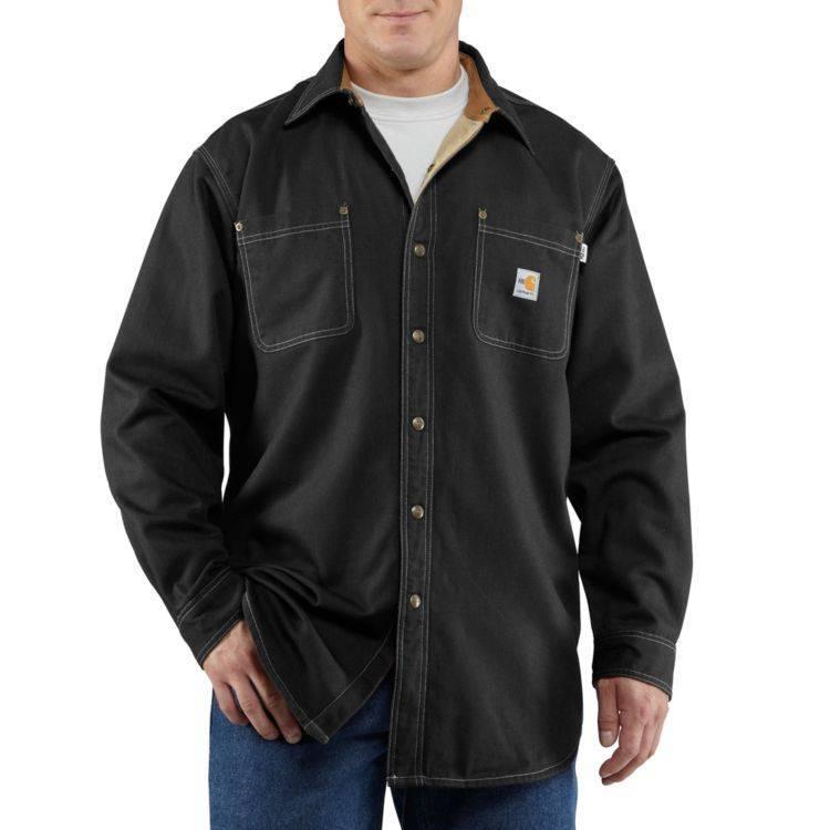 Carhartt Carhartt FR Canvas Shirt Jacket (Black)