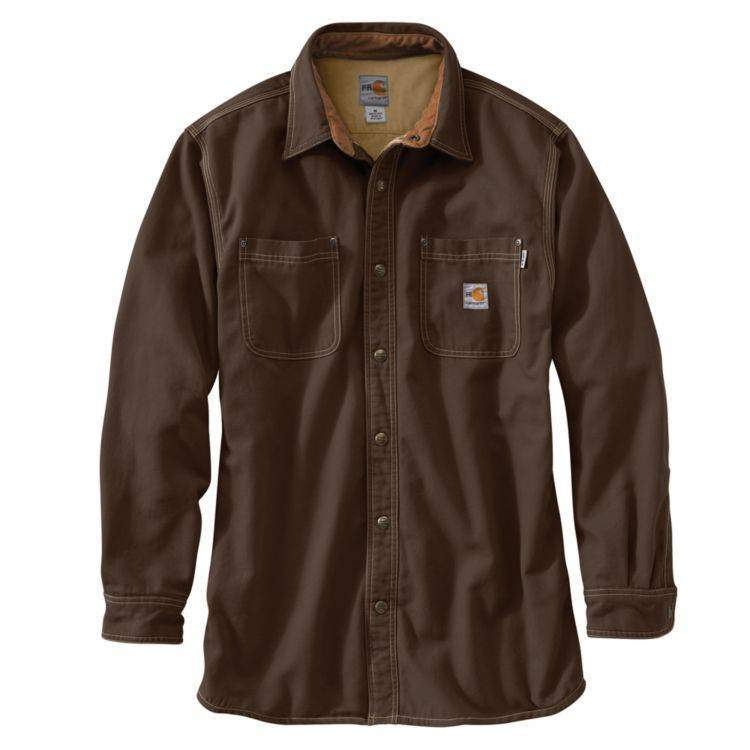 Carhartt Carhartt FR Canvas Shirt Jacket (Dark Brown)