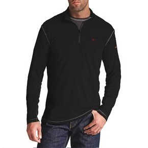 Ariat FR Wk Tk Base 1/4 ZIP (Black)