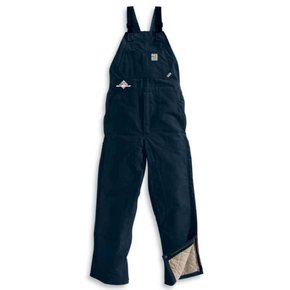 Carhartt Men's FR Duck Bib Overall/Quilt Lined (Navy SS)