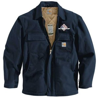 Carhartt Men's FR Duck Traditional Coat/Quilt Lined (Navy SS)