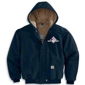 Carhartt Men's FR Midweight Active Jacket/ Quilt-Lined (Dark Navy SS)