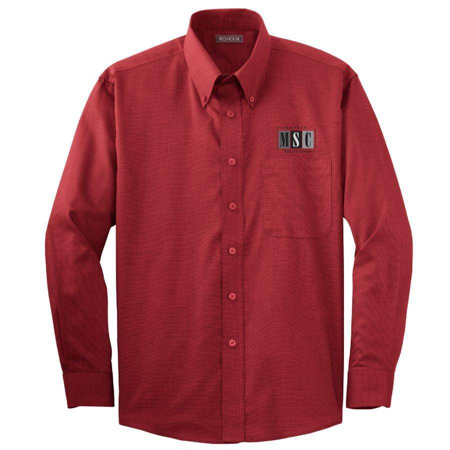 Red House Red House Button Down (Deep Red)
