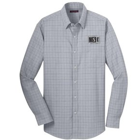 Red House Red House Men's Button Plaid Shirt (Dove Grey)