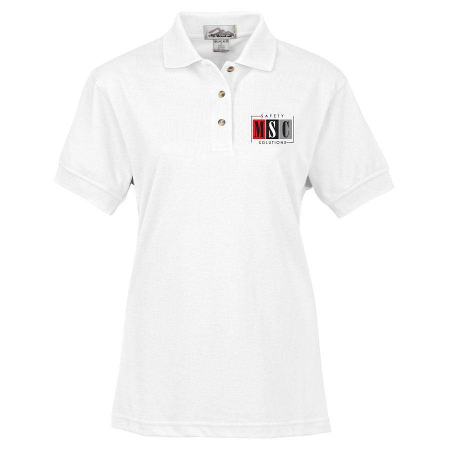 Tri Mountain Tri Mountain Ladies Artisan Polo (White)