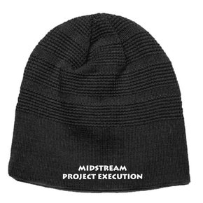 Pacific Waffle Knit Beanie ( Black )
