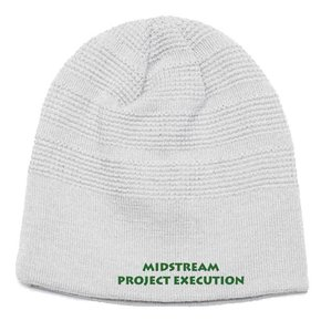 Pacific Waffle Knit Beanie ( Silver)