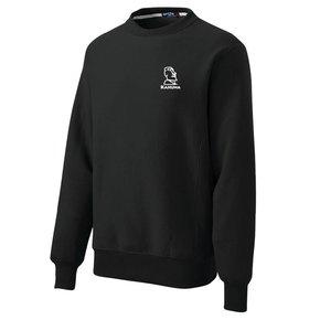 Sport-Tek® Super Heavyweight Crewneck Sweatshirt (Black w/white logo)
