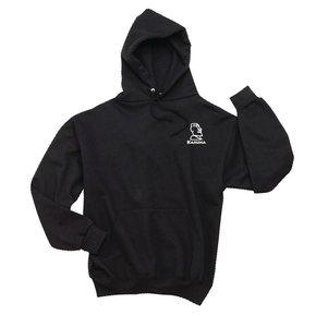 JERZEES® SUPER SWEATS® - Pullover Hooded Sweatshirt (Black w/white logo)
