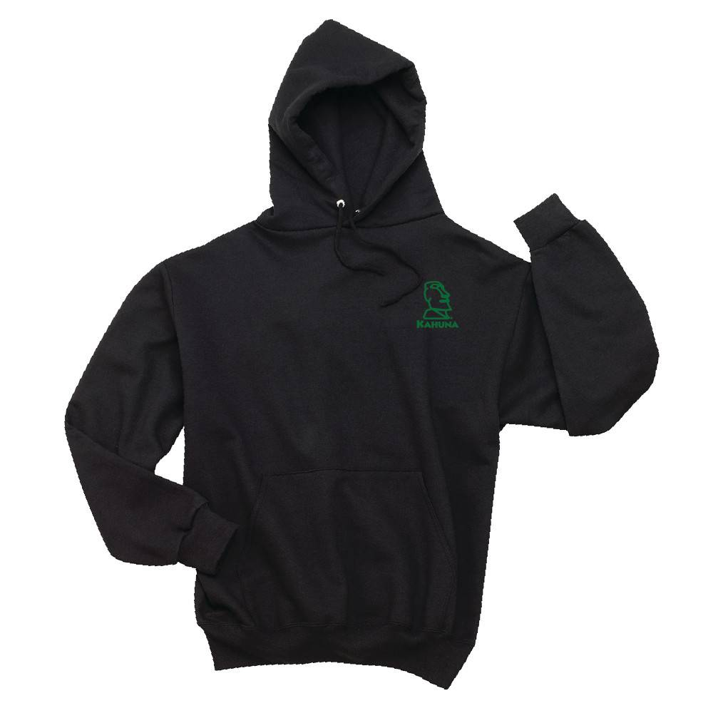 Jerzees JERZEES® SUPER SWEATS® - Pullover Hooded Sweatshirt (Black w/green logo )