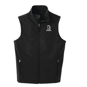 Port Authority® Core Soft Shell Vest (Black w/white logo)