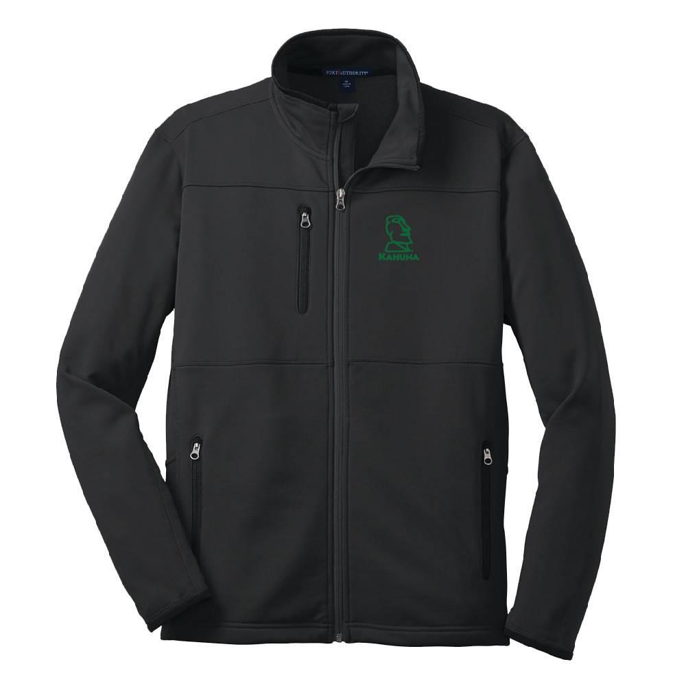 Port Authority Port Authority® Pique Fleece Jacket (Black w/green logo)