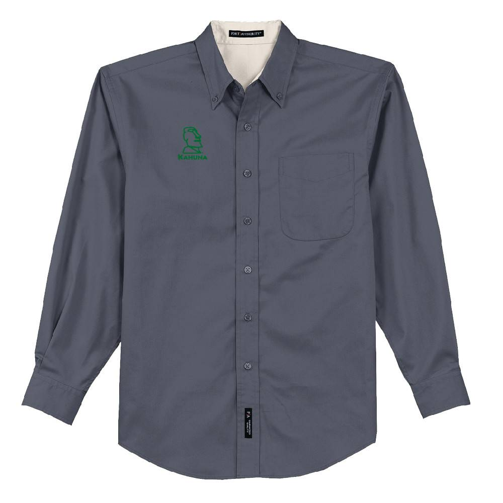 Port Authority Port Authority® Long Sleeve Easy Care Shirt (Steel Grey)
