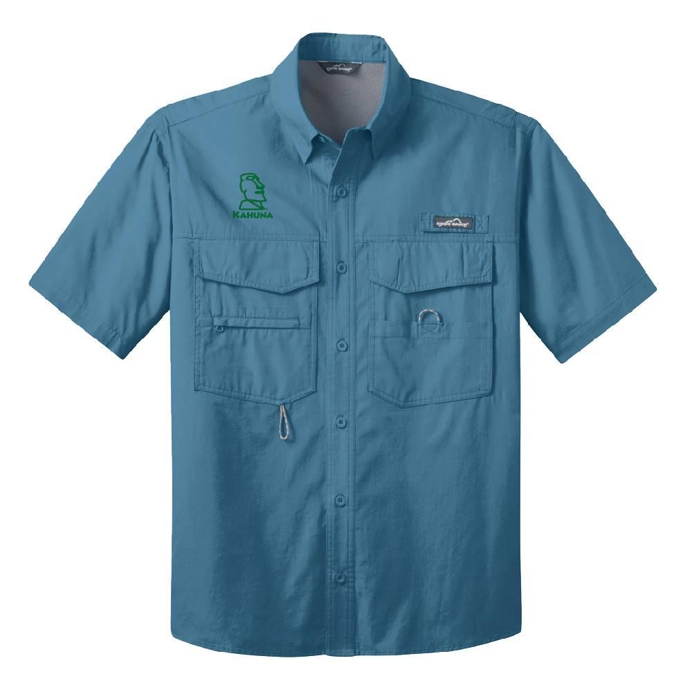 Eddie Bauer Eddie Bauer® - Short Sleeve Fishing Shirt (Blue Gill )