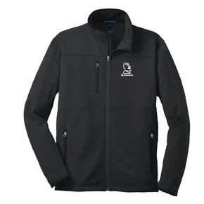 Port Authority® Pique Fleece Jacket (Black w/white logo)