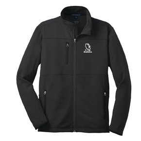 Port Authority Port Authority® Pique Fleece Jacket (Black w/white logo)