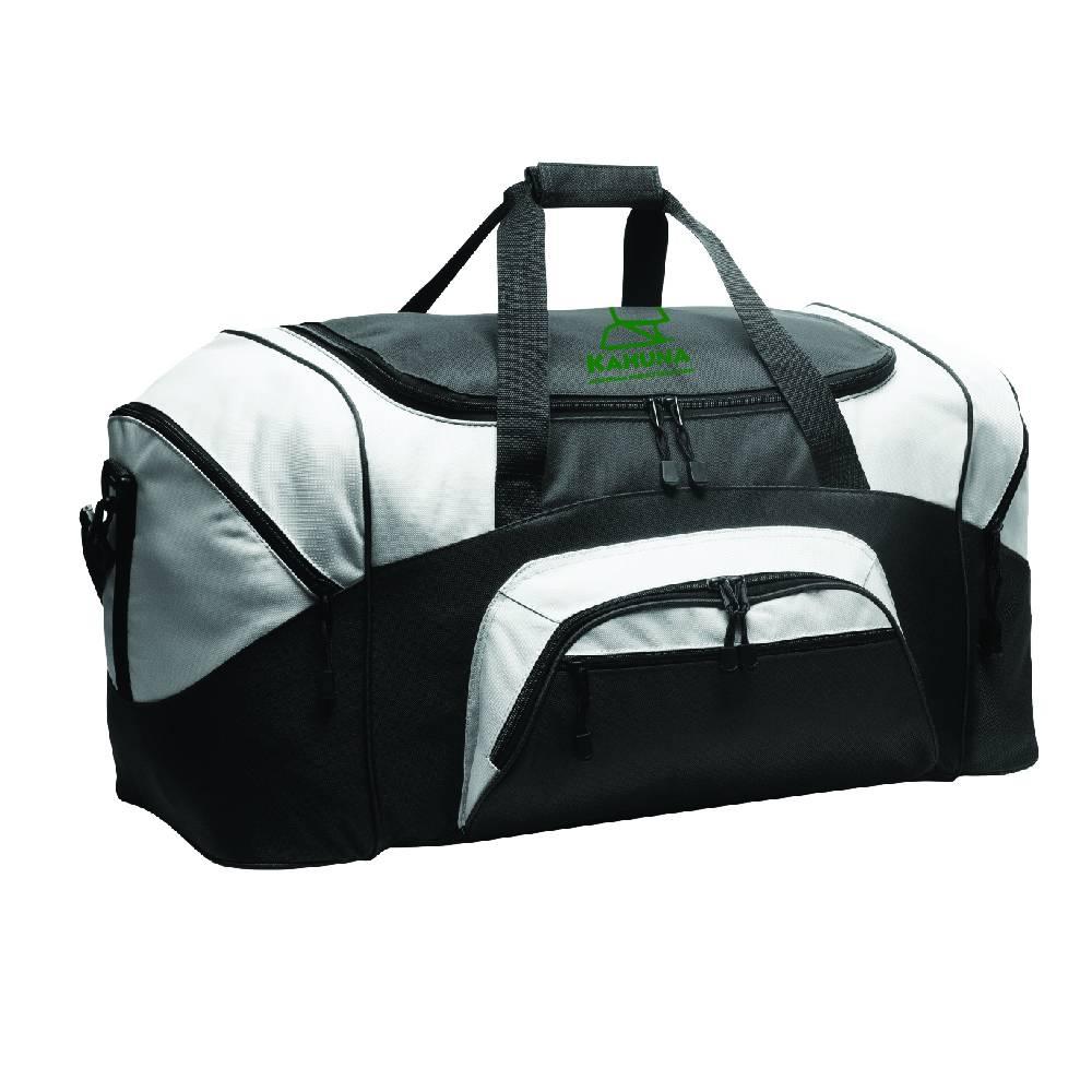 Port Authority Port Authority® - Standard Colorblock Sport Duffel (Black/Grey)