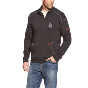 Ariat Ariat Fr Polartec 1/4 Zip Fleece (Black)