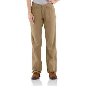 Carhartt Carhartt  Women's FR Loose Fit Midweight Canvas Jean ( Golden Khaki)