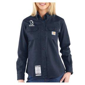 Carhartt Women's FR Twill Shirt ( Dark Navy )