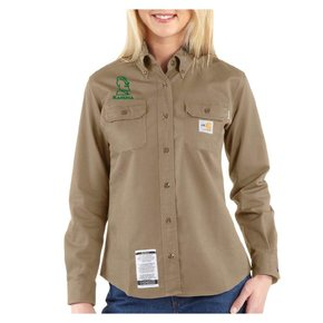 Carhartt Women's FR Twill Shirt ( Khaki)