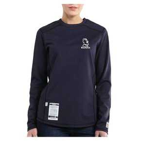 Carhartt Women's FR  Cotton Long-Sleeve Shirt ( Dark Navy )