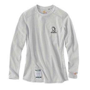 Carhartt Women's FR Cotton Long -Sleeve Shirt (Light Grey w/black logo )
