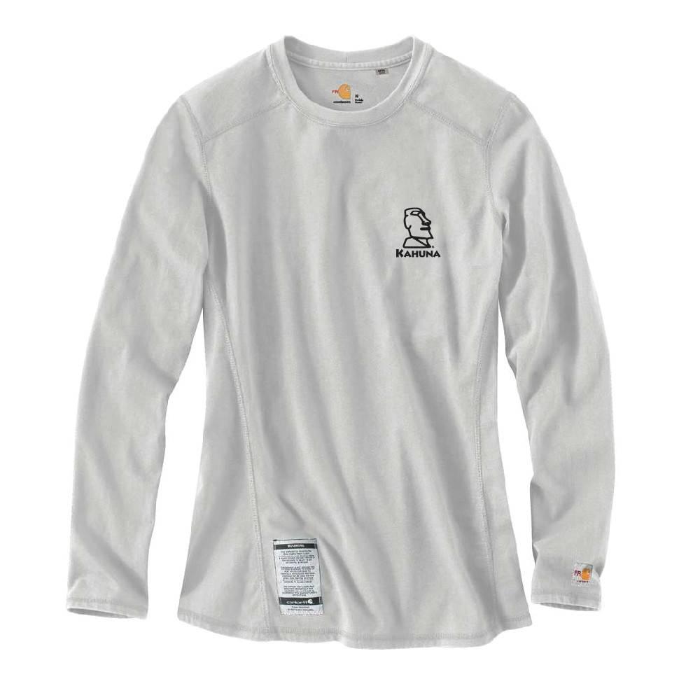 Carhartt Carhartt Women's FR Cotton Long -Sleeve Shirt ( Light Grey w/black logo)