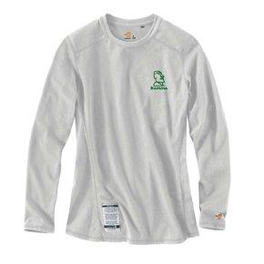Carhartt Women's FR Cotton Long-Sleeve Shirt (Light Grey w/green logo)