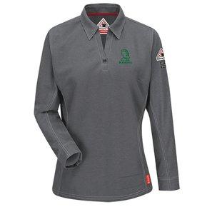 Bulwark iQ Series ® Women's Long Sleeve Polo ( Charcoal)
