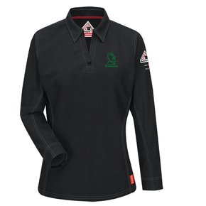 Bulwark Bulwark iQ Series® Women's Long Sleeve Polo (Black)