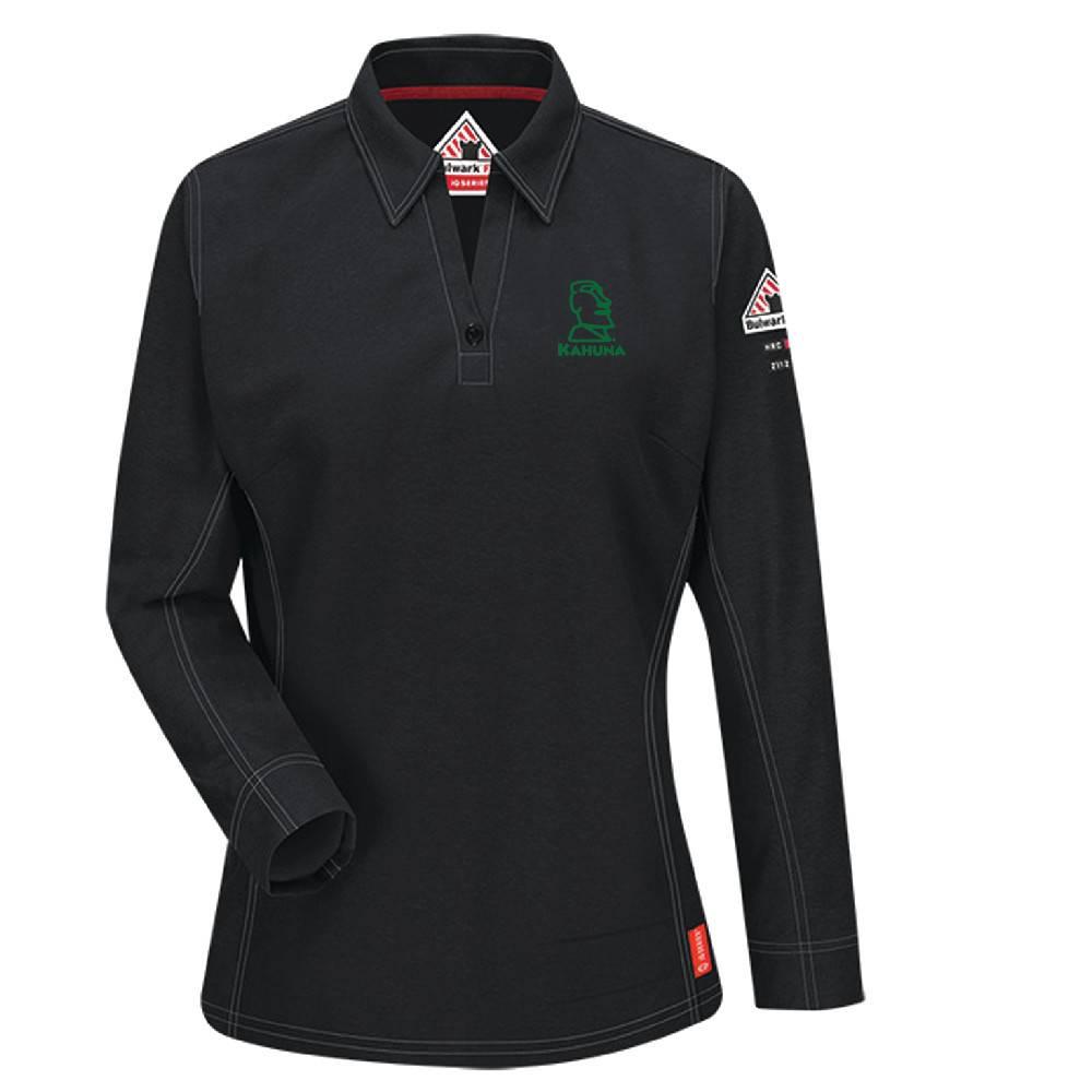 Bulwark Bulwark iQ Series® Women's Long Sleeve Polo (Black)